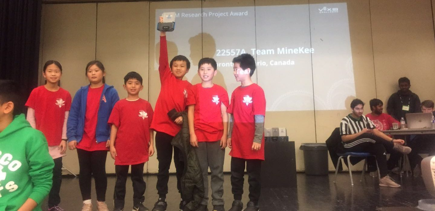 2018-2019 VEX IQ S.T.E.M Research Project Award